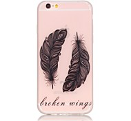 Feather Pattern TPU Material Glow in the Dark Soft Phone Case for iPhone 5/5S/SE/6/6S/6 Plus/6S Plus