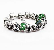 Green Strand Bracelet with Pendant Charm Bracelet(S:18,M:19,L:20cm)