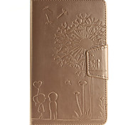 Voor Samsung Galaxy hoesje Portemonnee / Kaarthouder / met standaard / Flip / Reliëfopdruk hoesje Volledige behuizing hoesje Paardenbloem