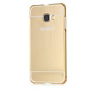 de alta qualidade espelho quadro de liga de plástico acrílico caso tampa traseira de alumínio de metal para Samsung Galaxy c5