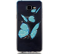 Butterfly 3D Relief Feeling Super Soft Pack Transparent TPU Phone Case for Samsung Galaxy A310/A510