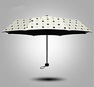 Noir / Jaune Ombrelle pliable Ensoleillé et Rainy Métallique / Plastic Lady