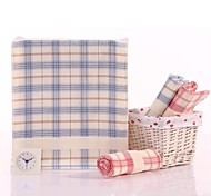 "1PC Full Cotton Hand Towel 13"" by 29"" Plaid Pattern Super Soft Strong Water Absorption Capacity"