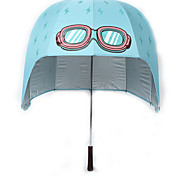 Blue Folding Umbrella Sunny and Rainy Textile Kids