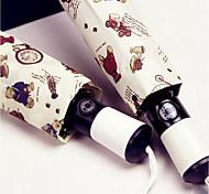 Cartoon Bear Automatic Umbrella Fashion Umbrellas Uv Sun Umbrella Folding Umbrella Sunny