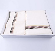 Bamboo Fiber Small Square Pure Cotton Bath Towel 140 * 70