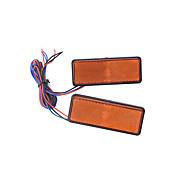 2pcs marcatore freno riflettore coda rettangolo di luce auto moto guidata
