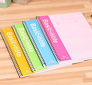 3 Authentic Deli Spiral Bound Notebook Coil This Color Notebook Soft Manuscripts Notepad Office School