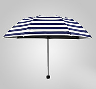 Naval Stripe Sunny And Rainy Umbrella