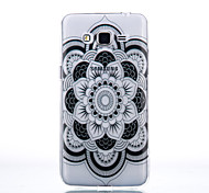 TPU Material Black Full Flower Pattern Cellphone Case for Samsung Galaxy J710/J510/J5/J310/G530/G360