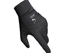 Cycling Gloves / Ski Gloves / Touch Gloves Winter Gloves Unisex Keep Warm Ski & Snowboard Black Canvas Free Size