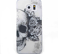 Skull Pattern Material TPU Phone Case For Samsung Galaxy S5 S6 S7 S6 Edge S7 Edge