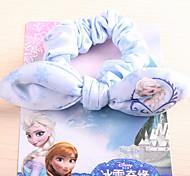 Women's Flower Girl's Fabric Bow Frozen Hair Tie