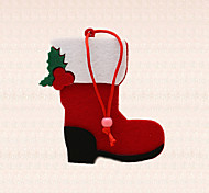 1pc Red Short Boot Shoe Design Pendant Christmas Tree Decoration Holiday Party Supplies Pretty Gift