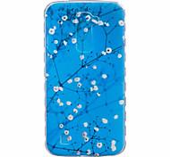 Plum Flower Pattern Black Printing Thick TPU Material Phone Case for LG K4 K5 K8 K10