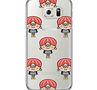 Cute Girl TPU Soft  Ultra-thin Soft Back Cove for Samsung Galaxy S7 edge / S7 / S6 edge plus / S6 edge / S6 / S5/S4