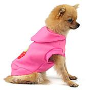 Cat / Dog Coat Pink Winter / Spring/Fall Fruit Holiday, Dog Clothes / Dog Clothing