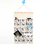 Eight Pockets Behind The Door Home Furnishing Storage Bag Random Color