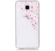 TPU Material Small Pink Flowers Pattern Painted Relief Phone Case for Samsung Galaxy A510/A310
