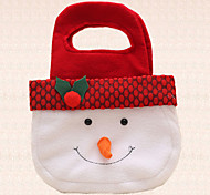 1pc Christmas Hand Candy Bag Decoration Lovely Snowmon Ornament Outdoor Party Supplies