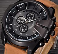 Masculino Relógio Esportivo / Relógio Militar / Relógio Elegante / Relógio de Moda / Relógio de Pulso Quartz Calendário / Punk Couro Banda