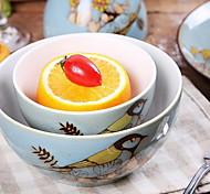 ручная роспись керамическая чаша супа личности птицы