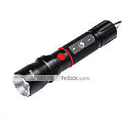 U'king XM-L T6 5 Mode Adjustable Focus / Rechargeable / Strike Bezel LED Flashlights
