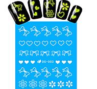 1pcs Nail Art Water Transfer Noctilucent Sticker Butterfly Heart Flower Decoration Nail Beauty DG-003