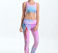Sportivo Per donna Compressione Yoga Pantaloni Rosa