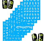 1Set Nail Art Water Transfer Noctilucent Sticker Colorful Image Nail Beauty DG-003,005,007,009,010,011,019,038,042