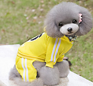 Dog Hoodie / Clothes/Clothing Red / Black / Blue / Yellow Winter Cartoon Sports, Dog Clothes / Dog Clothing