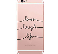 Coque Motif Word / Phrase PC Dur Couverture de cas pour Apple iPhone 6s Plus/6 Plus / iPhone 6s/6 / iPhone SE/5s/5