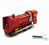 The Locomotive Wind-up Toy Leisure Hobby  Metal Red For Kids