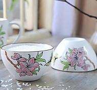 4.5 inch / 6 Inch Hand-Painted Ceramic Bowl (Random Style)