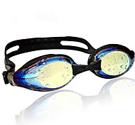 Wave magic color plating swimming goggles swimming goggles myopia glasses lens anti-fog myopia flat YJ02
