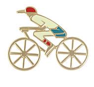 esmalte de montar en bicicleta de forma humana grandes broches