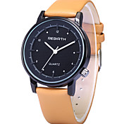 REBIRTH® Men's Simple Fashion Design PU Leather Strap Quartz Wrist Watch Casual Watch Fashion Watch