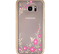 Metal frame Diamond plating Secret Garden For iPhone Samsung S5/S6/S6edge/S6edge plus/S7/S7edge