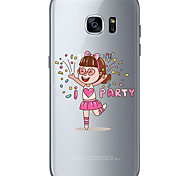 Happy little girl TPU Soft Back Cover Case for  Samsung Galaxy S6  S7 edge Plus