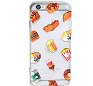 Hot Dog HD Pattern Embossed Acrylic Material TPU Phone Case For iPhone 7 7 Plus 6s 6 Plus