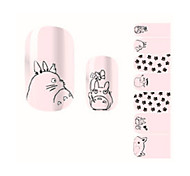 Fashion Lovely Pink Neighbor Totoro Christmas Nail Decal Art Sticker Gel Polish Manicure Beautiful Girl