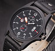 Masculino Relógio Esportivo / Relógio Militar / Relógio Elegante / Relógio de Moda / Relógio de Pulso Quartz Calendário Couro Banda