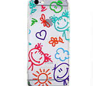 Crayon HD Pattern Embossed Acrylic Material TPU Phone Case For iPhone 7 7 Plus 6s 6 Plus