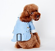 Dog Coat Green / Blue / Brown / Coffee Dog Clothes Winter / Spring/Fall Solid Fashion / Keep Warm