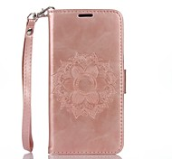 Mandala Embossed Leather Wallet for Samsung Galaxy Core Prime Grand Prime