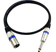 JSJ® 3-Pin XLR Male to 6.35mm Single Channel Male Microphone Audio Cable (OD6.0mm 1.5m/5FT)