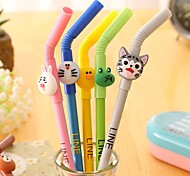 Cute Cartoon Straw Neutral Pen(1PC)