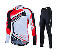 Spring Autumn Long Sleeve Cycling Jersey Sets Breathable Gel Padded Sportswear Mountain Bike Clothings