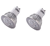YouOKLight 2PCS GU10 4W LED Spotlight Warm White 3000K 350lm SMD 3030 LED White (85265V)
