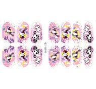 14Pcs/Sheet Nail Art Sticker Adesivi 3D unghie Cartoni animati / Adorabile makeup Cosmetic Nail Art Design